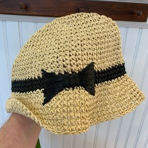 ♠️Kate Spade♠️ straw hat with bow - packable